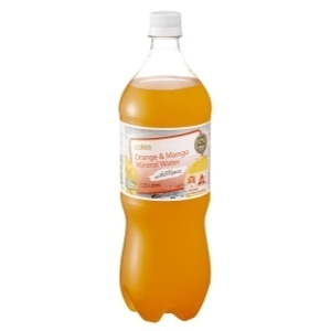 Coles Orange and Mango Mineral Water - Product