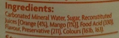 Coles Orange and Mango Mineral Water - Ingredients