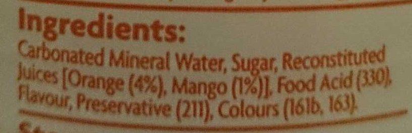 Coles Orange and Mango Mineral Water - Ingrediënten