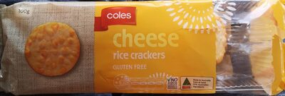 Cheese Rice Crackers - Product - en