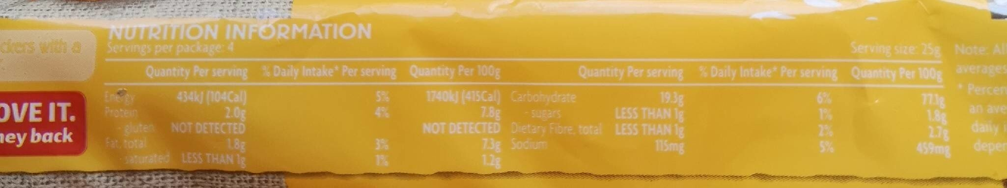 Cheese Rice Crackers - Nutrition facts - en