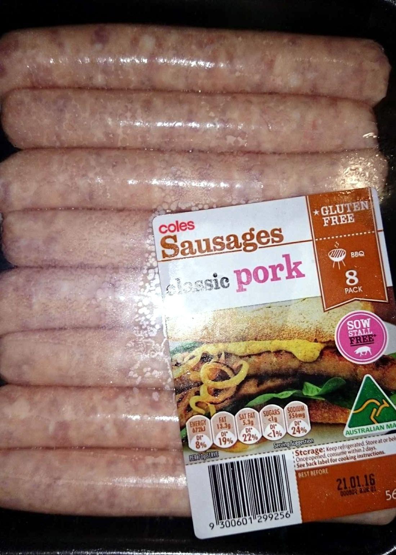 Sausages - Classic Pork - Product - en