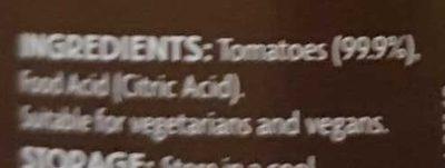 Italian passata - Ingredients
