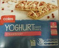 Coles Yoghurt Topped Bars Strawberry - Product