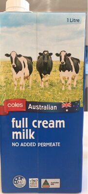 Coles Full Cream Milk - Produit - en