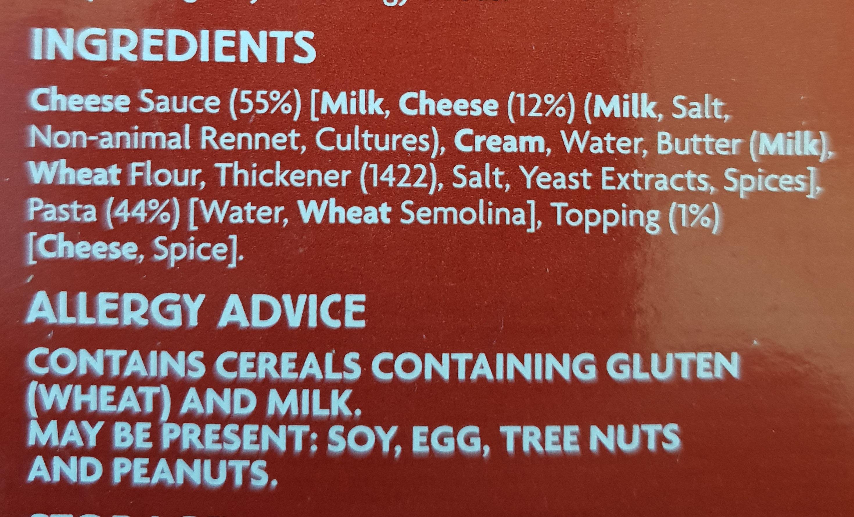 Macaroni Cheese - Ingredients - en