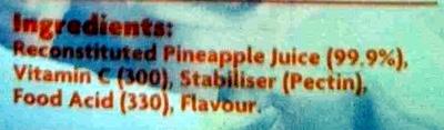 Pineapple Juice - Ingredients