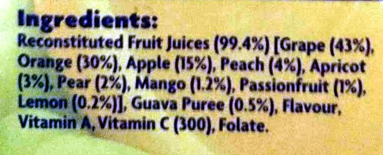 Viten Juice - Ingredients - en