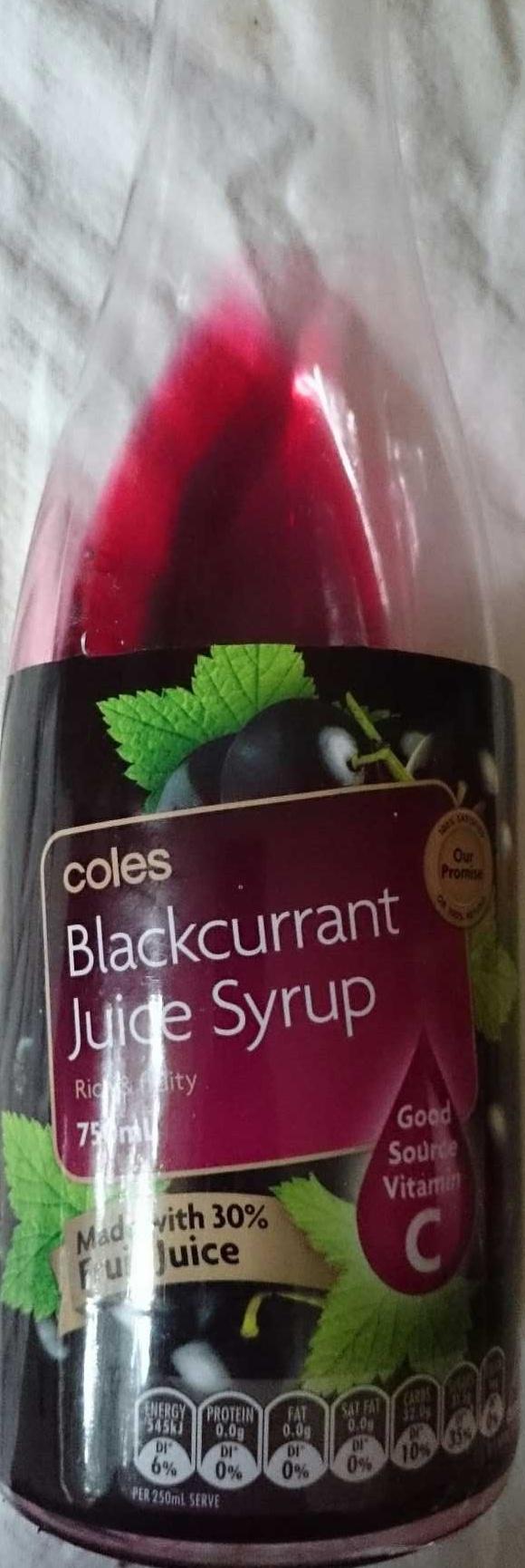Blackcurrant juice syrup - Produit - en