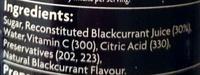 Blackcurrant juice syrup - Ingrédients - en