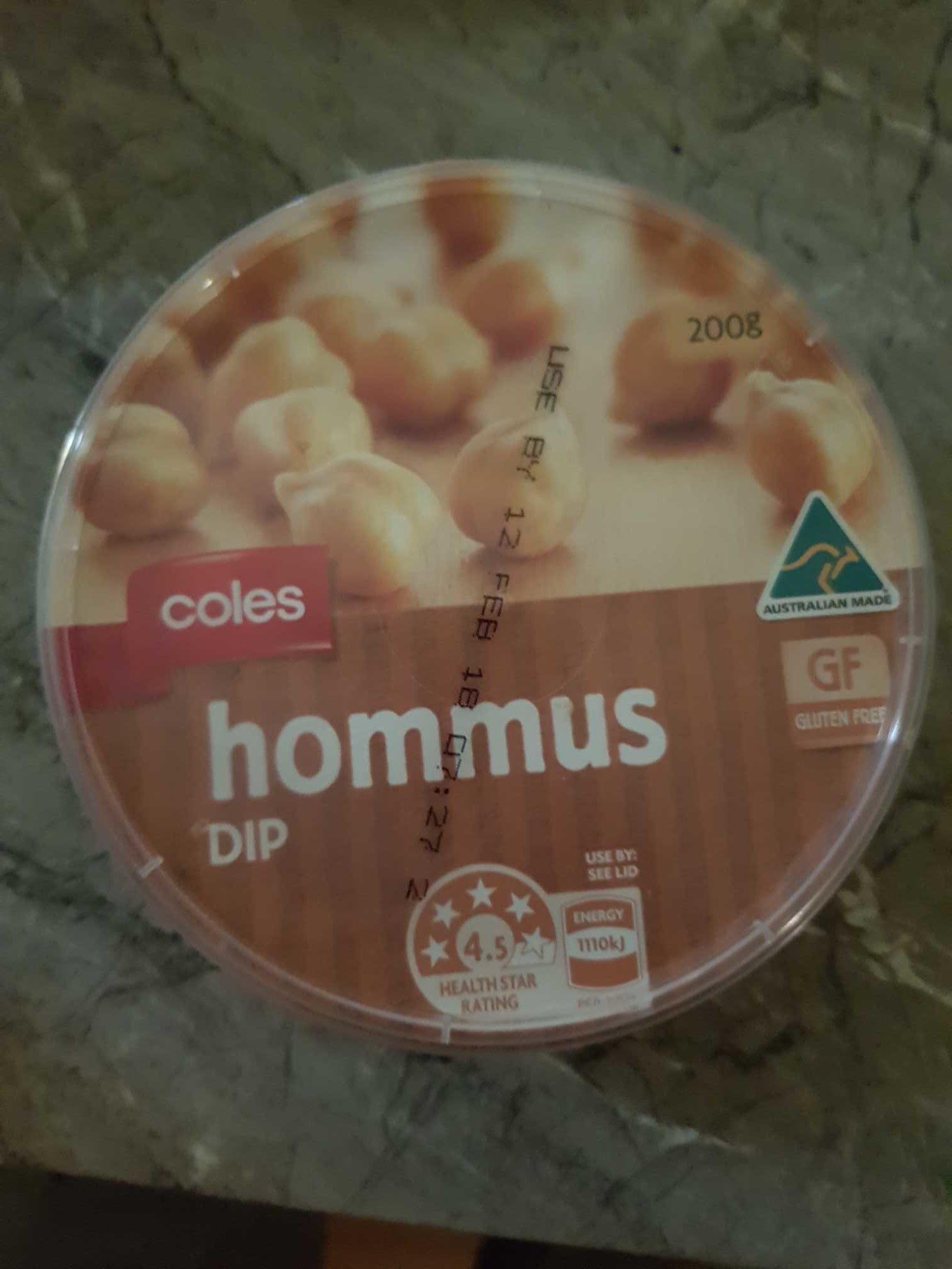 Coles hommus dip - Product