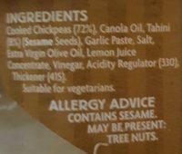 Coles hommus dip - Ingredients