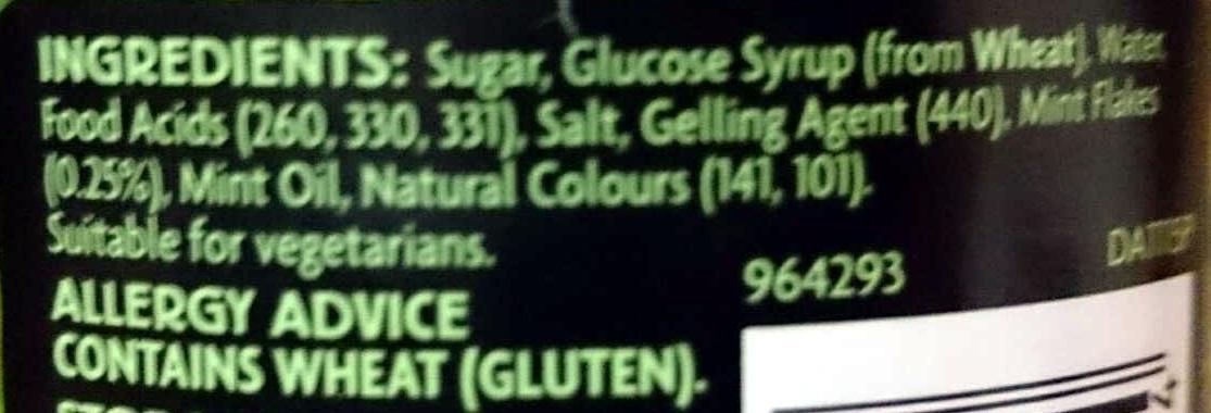 Mint Jelly - Ingredients - en