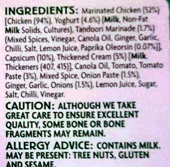 Chicken Tikka Masala - Ingrédients