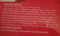 Garlic Bread - Ingrédients - en