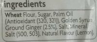 Gingernut - Ingredients