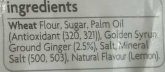 Gingernut - Ingredients