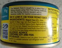 Coles Tuna with Lemon and Pepper - Ingredients