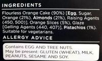 Handcrafted Flourless Orange Cake - Ingredients
