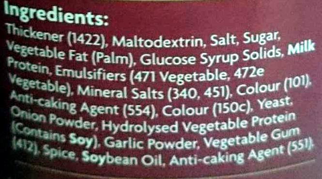 Instant gravy traditional - Ingredients - en