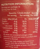 Instant gravy traditional - Nutrition facts - en