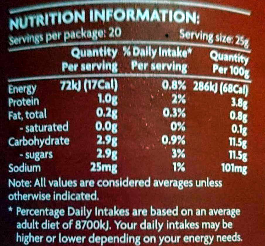Tomato Paste - Nutrition facts - en