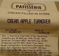 Cream Apple Turnover - Product