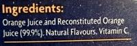 Coles Orange Juice - Ingredients - en
