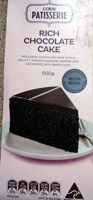 Coles Patisserie Rich Chocolate Cake - Product - en