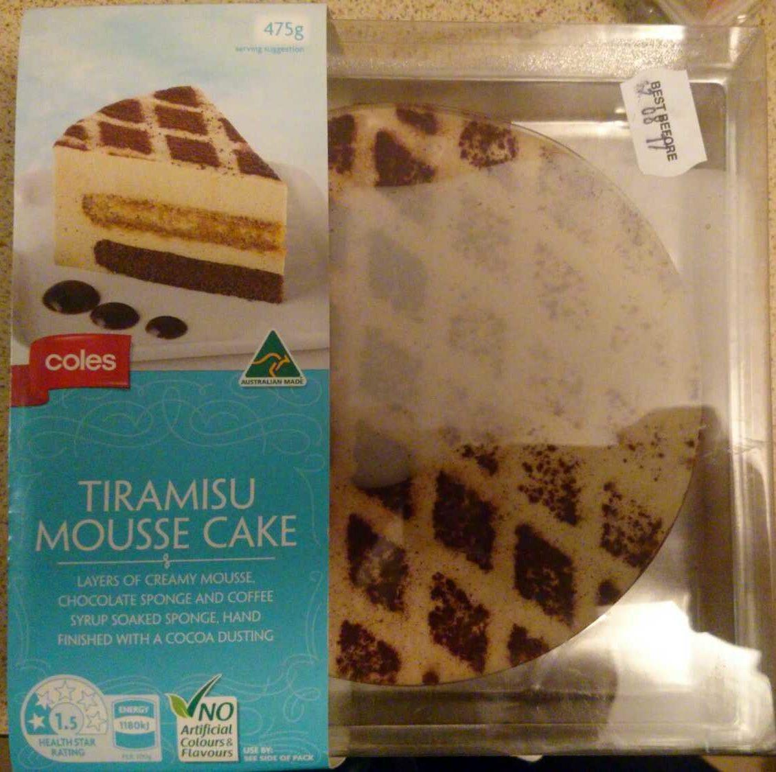 Tiramisu mousse cake - Product - en