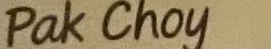 Pak Choy Bunch - Ingredients - en