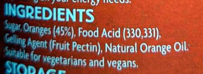Breakfast Marmalade - Ingredients
