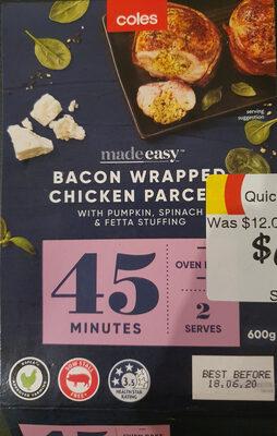 Bacon Wrapped Chicken Parcel with Pumpkin, Spinach & Feta Stuffing - Produit - en