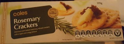 Coles Rosemary Crackers - Product - en