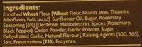 Coles Rosemary Crackers - Ingredients - en