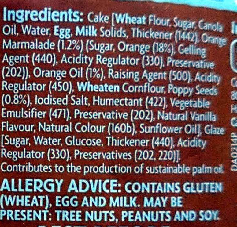 Orange & Poppyseed Cake - Ingredients - en