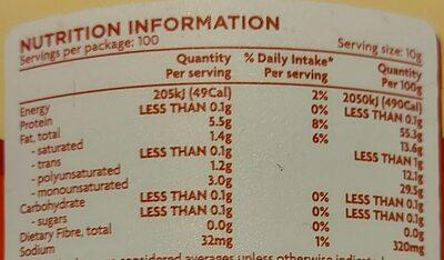 Regular Spread - Nutrition facts - en