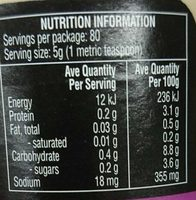 Garlic Finely Minced - Nutrition facts