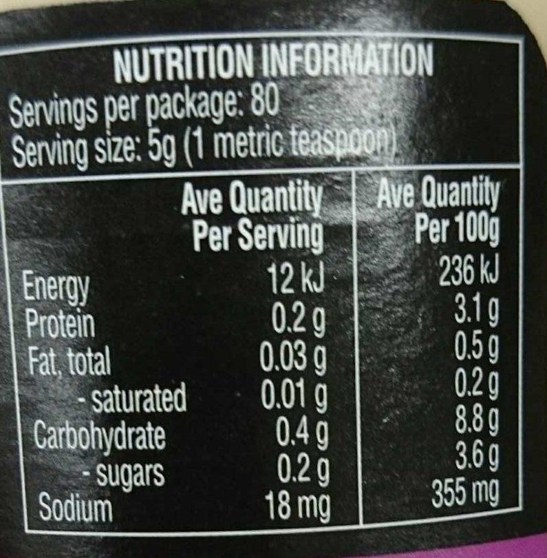 Garlic Finely Minced - Nutrition facts - en