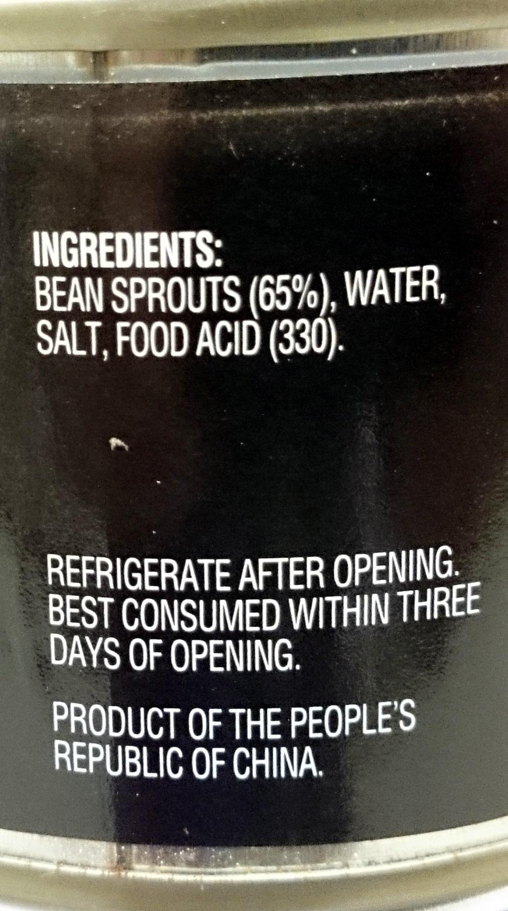 Always Fresh Whole Bean Sprouts - Ingrédients - en