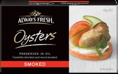 Always Fresh Oysters Preserved in Oil - Product
