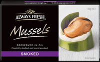 Always Fresh Mussels Preserved in Oil - Product