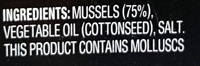 Always Fresh Mussels Preserved in Oil - Ingredients