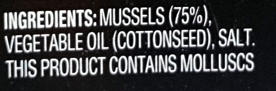 Always Fresh Mussels Preserved in Oil - Ingredients - en