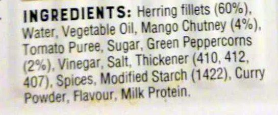 Herring Fillets in Mango Pepper Sauce - Ingredients - en