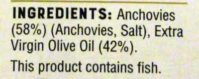 Anchovies - Extra Virgin Olive Oil - Ingredients - en