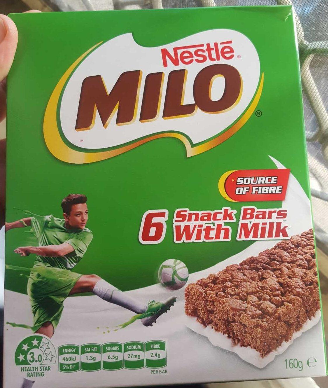 Snack Bars with Milk - Produit