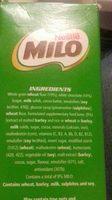 Snack Bars with Milk - Ingrédients