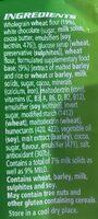 BARRE MILO - Ingredients