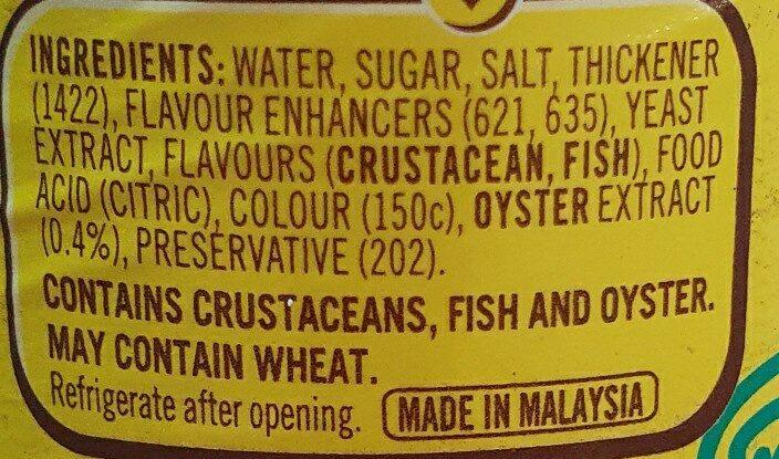 maggi oyster sauce - Ingredients - en